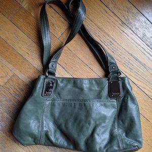 Tignanello Green Leather Bag